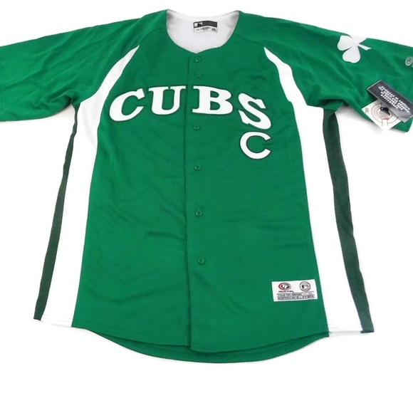268f2b2f true fan Shirts | Chicago Cubs Green White St Patricks Baseball Jers ...